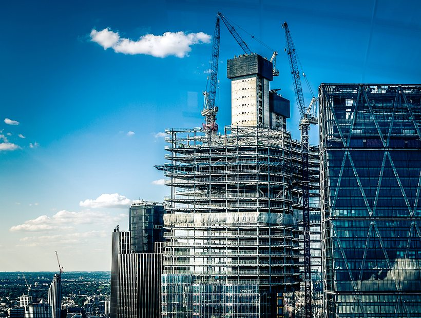 High rise building being built